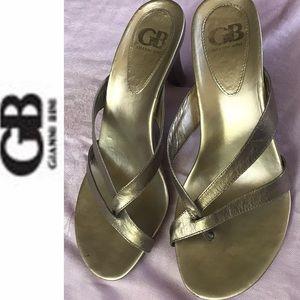 NYOP! GB Gianni Bini bronze high heel sandals 9.5